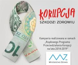 Kampania - Korupcja szkodzi zdrowiu